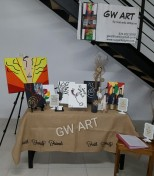 GW Art Booth at The Hub Co-Working's TSO Pop Up Shop 2016
